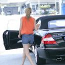Lauren Conrad - Tanks Her Benz After Visiting Her New House, 06.07.2008.