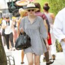 Dakota Fanning enjoyed her day off from filming today, July 14, in New York City