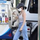 Lucy Hale – Spotted at the Gas Station