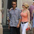 Michael Vartan and girlfriend Lauren Skaar in SoHo
