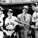 Ted with JFK & Hank Greenberg (With Bat)