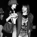 Axl Rose and Stephanie Seymour