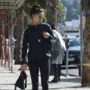 Shanina Shaik in Tights – Walking her dog Choppa in Los Angeles - 454 x 681
