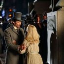Michelle Williams and Hugh Jackman on the set of 'The Greatest Showman' in NY - 454 x 814