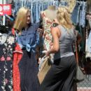 Aly and AJ Michalka enjoyed some retail therapy yesterday, September 18. They stopped by a flea market in Los Angeles