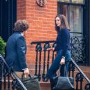 Anne Hathaway On The Set Of The Intern In Nyc