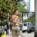 ANDRESSA URACH in Tight Outfit Jogging in Miami Beach - 454 x 640