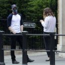 Lily James and Chris Evans – Seen eating ice cream on a date in the park in London - 454 x 486