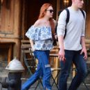 Lindsay Lohan in Jeans with friend out in New York City - 454 x 569