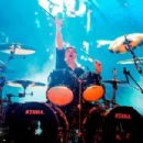 Lars Ulrich of the band Metallica performs live on stage at Autodromo de Interlagos on March 25, 2017 in Sao Paulo, Brazil - 454 x 303