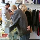 Ashlee Simpson and Evan Ross doing some Christmas shopping in Beverly Hills, California on December 20, 2014