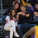 Ashley Greene Sacramento Kings Vs The Los Angeles Lakers At Staples Center