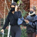 Hailey Bieber and Kendall Jenner – Out for a workout session in Los Angeles - 454 x 303