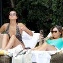 Chloe and Lauryn Goodman in Swimsuit in Los Angeles - 454 x 317