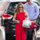 Olivia Palermo in Red Long Dress Out in New York - 454 x 658