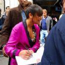 Lea Michele Leaving BBC Radio 2 studios in London - 454 x 454