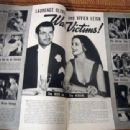 Vivien Leigh and Laurence Olivier - Screen Guide Magazine Pictorial [United States] (April 1941)