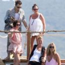 Kate Moss vacationing with her husband Jamie Hince and friends in Saint-Tropez, France (July 11)