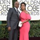 Courtney B. Vance and Angela Bassett At The 74th Golden Globe Awards (2017) - 424 x 600