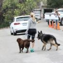 Reese Witherspoon is seen out with her dogs on May 28, 2016
