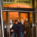 Miley Cyrus at the March Jacobs head office for a fashion fitting in New York