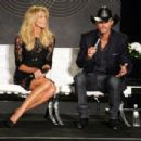 Tim McGraw and wife Faith Hill announcing their 'Soul2Soul' concert event at The Venetian Theatre in Las Vegas (August 7)