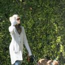 Jessica Biel Taking The Dog Out For A Walk In Brentwood - Mar 15 2008