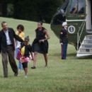 Obama Family Returns To White House From Martha's Vineyard Vacation
