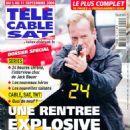 Kiefer Sutherland - Télé Cable Satellite Magazine Cover [France] (5 September 2009)