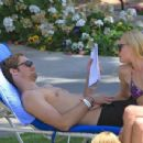 Enjoy a relaxing day by the pool on Monday (April 19) in Palm Springs, Calif.