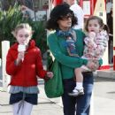 Salma Hayek and her precious daughter Valentina Paloma Pinault were spotted out at The Grove in Los Angeles on Tuesday (December 29).
