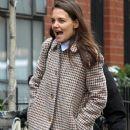 Katie Holmes walks with her friend around Manhattan, New York's West Village neighborhood on January 10, 2017