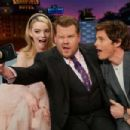 Anya Taylor-Joy and James Marsden at The Late Late Show with James Corden (February 2020)