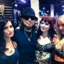 Amie Harwick with Dave Navarro, Summer Daniels and Angela Ryan