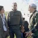 Katrin Cartlidge, Georges Siatidis and Simon Callow in MGM/UA's No Man's Land - 2001