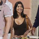 Kourtney Kardashian and Younes Bendjima – Night Out in Portofino