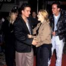 Drew Barrymore and boyfriend Leland Hayward at  'Sleeping with the Enemy' Film premiere, Los Angeles, America, 6 February 1991 - 275 x 400