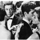 Michèle Mercier , Yves Montand, Anthony Perkins and Ingrid Bergman in Goodbye Again, 1965