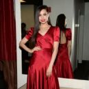 Sofia Carson in Red Dress at Good Day New York Studios in NY - 454 x 713