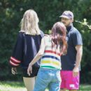 Mia Goth and Shia LaBeouf – Spend time with her mom