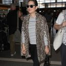 Marion Cotillard departing on a flight at LAX airport in Los Angeles, California on February 3, 2015