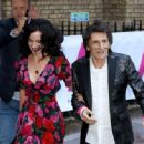 Ronnie Wood and Sally Humphreys attend the first annual gala dinner in recognition of Addiction Awareness Week at Phillips Gallery on June 12, 2019 in London, England - 454 x 334