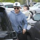 Pro skateboarder and entertainer Rob Dyrdek is spotted out with his wife Bryiana and son Kodah in Los Angeles, California on March 26, 2017 - 422 x 600
