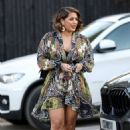 Malin Andersson – Out in her patterned floral dress in Essex - 454 x 688