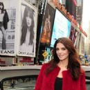 Ashley Greene Unveils DKNY Billboard in Times Square