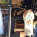 Jenna Dewan in mini black dress heading to Sushi restaurant in LA