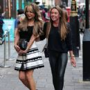 Michelle Heaton and Lizzie Cundy – Arrives at Secsy Fish Restaurant in London - 454 x 626