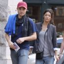Jessica Szohr & Ed Westwick After Having Lunch At Bubby's Restaurant In Tribeca - October 4, 2009