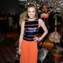 Actress Skyler Samuels attends the alice + olivia by Stacey Bendet and Neiman Marcus present See-Now-Buy-Now Runway Show at NeueHouse Los Angeles on April 13, 2016 in Hollywood, California - 435 x 600
