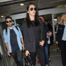 Adriana Lima Arriving at Airport in Nice